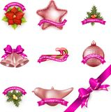 Set of Christmas attributes and toys. EPS 10 Stock Photos