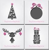 Set of Christmas  Background Royalty Free Stock Image