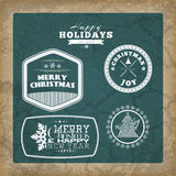 Set of Christmas background. S. Five motivational retro posters Stock Images
