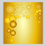 Set Christmas Background gold Ball The cold weather season Vector Il. Christmas Background gold Ball The cold weather season Vector Illustration Stock Images
