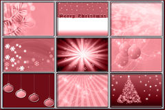 Set of Christmas Background Patterns Royalty Free Stock Photos
