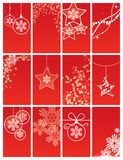 Set of Christmas backgrounds. Large set of red Christmas backgrounds Royalty Free Stock Photo