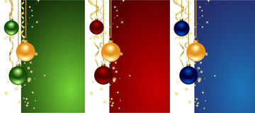 Set christmas backgrounds. With snowflakes, star and decoration. Vector illustration Royalty Free Stock Images