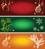 Set of Christmas backgrounds. For various design artwork Stock Images