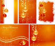 Set christmas backgrounds Royalty Free Stock Photo
