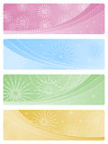 Set of Christmas backgrounds. A set of four Christmas backgrounds Royalty Free Stock Images