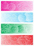 Set of Christmas backgrounds. A set of four Christmas backgrounds Stock Image