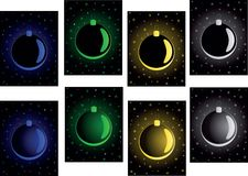 Set of christmas backgrounds. Set christmas backgrounds with  blue, green,  gold ball Stock Images