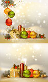 Set Christmas backgrounds Stock Photo