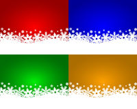 Set of Christmas backgrounds Stock Photos