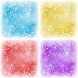Set of Christmas backgrounds Stock Image