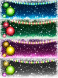 Set of Christmas backgrounds Royalty Free Stock Photography