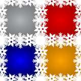 Set of Christmas backgrounds. With snowflakes around Stock Photo