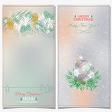 Set of Christmas backgrounds Royalty Free Stock Image