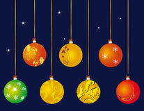A set of Christmas ball Stock Images