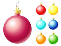 Set of christmas ball Royalty Free Stock Photography