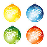 Set of christmas balls Royalty Free Stock Photography
