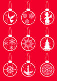 Set Christmas balls. Royalty Free Stock Images