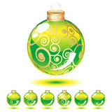 Set of Christmas balls Royalty Free Stock Photo