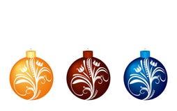 Set of christmas balls. Set of christmas colorful balls. Vector royalty free illustration
