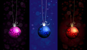 Set of Christmas balls Royalty Free Stock Photography