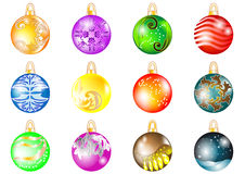 Set of Christmas balls Stock Photography
