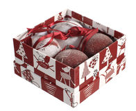 Set of Christmas balls Stock Images