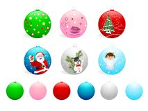 Set of Christmas balls, cdr vector Royalty Free Stock Photos
