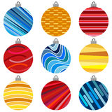 Set of Christmas Balls. Christmas Decorations. On White Background vector illustration