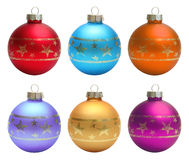 Set christmas balls clipping path Stock Photo