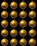 Set with Christmas balls Stock Photography