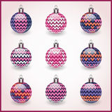 Set of Christmas balls for design use.Icons Stock Photography