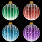Set of Christmas balls Stock Images