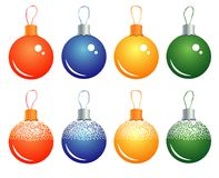 Set of Christmas balls Stock Photos
