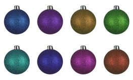 Set of christmas balls globes Stock Image
