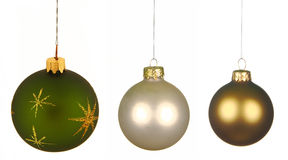 Set of Christmas Balls isolated Royalty Free Stock Photography