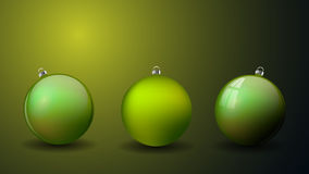 Set Christmas balls isolated. Happy New Year bauble traditional. Stock Image