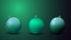 Set Christmas balls isolated. Happy New Year bauble traditional. Royalty Free Stock Photography