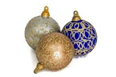 Set of christmas balls, isolated on white background Royalty Free Stock Photos