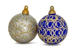 Set of christmas balls, isolated on white background Stock Images