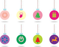 Set of Christmas balls. In multicolour Royalty Free Stock Photography