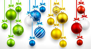Set of Christmas balls. Vector Stock Image