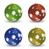 Set of christmas balls - vector file added Stock Image