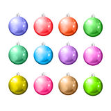 Set of Christmas balls on a white background. EPS10 vector Stock Photography