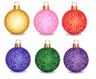 Set of Christmas balls on a white background Stock Photography