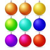 Set of Christmas balls on a white background. Vector Stock Photos