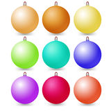 Set of Christmas balls on a white background. Vector Stock Images