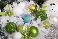 Set of Christmas balls Royalty Free Stock Photos