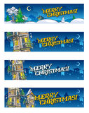 Set of 4 Christmas baners Royalty Free Stock Images