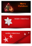 Set of Christmas banner. Set of Christmas art banner Stock Photos